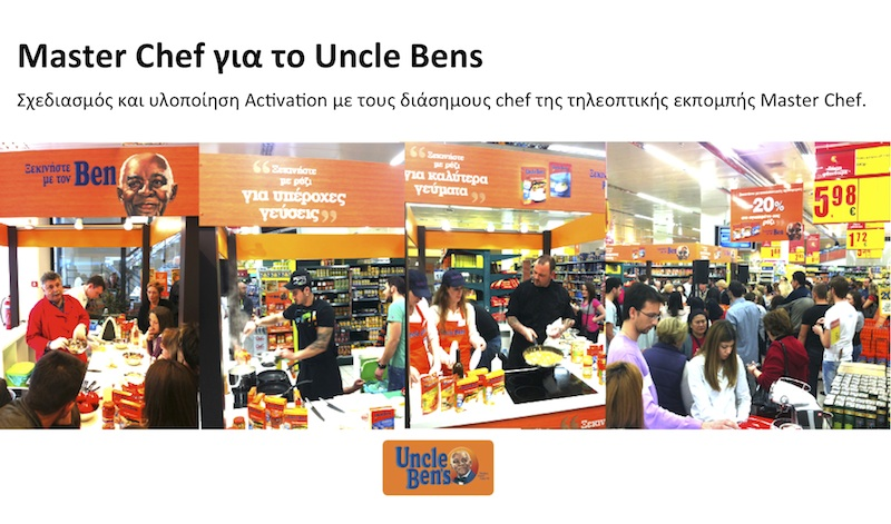 Master chef show uncle bens
